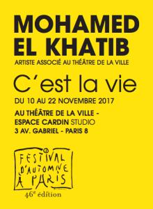 C'est la vie de Mohamed El Khatib sur le site du Théâtre de la ville (nouvelle fenêtre)
